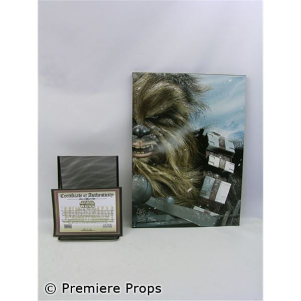 """""""Star Wars"""" Chewbacca Hoth Encounter by Chris Wahl on Canvas"""