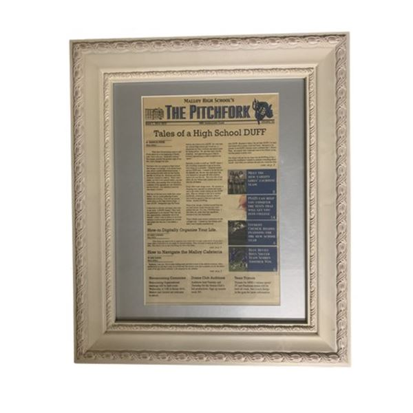 The Duff Framed Newspaper Movie Props