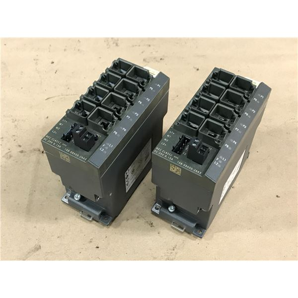 (2) SIEMENS 6GK5108-0BA00-2AA3 ETHERNET SWITCH