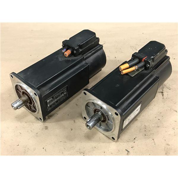 (2) REXROTH INDRAMAT MKD071B-061-KP1-KN MOTOR
