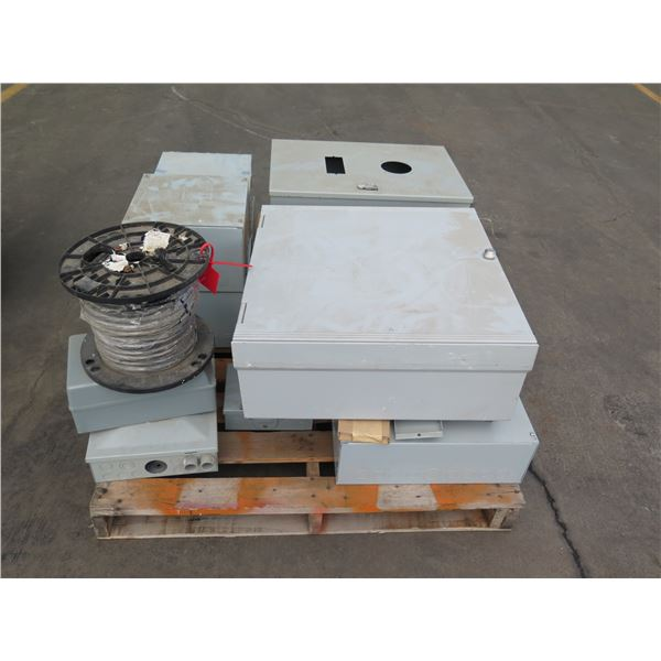 Multiple Metal Electrical Boxes: Nvent Pull Box, Hoffman, etc & Reel Cable
