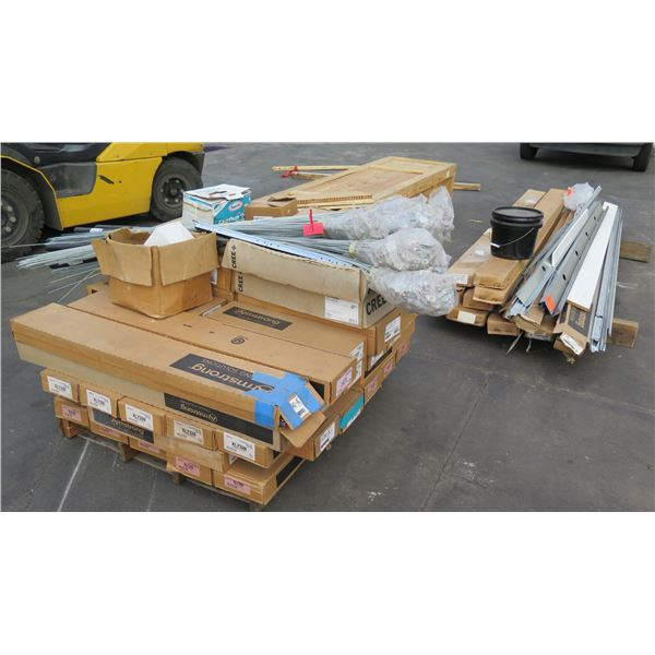 Pallet Multiple Boxes Armstrong Prelude Tees, AXTR Transition, Angle Iron, etc