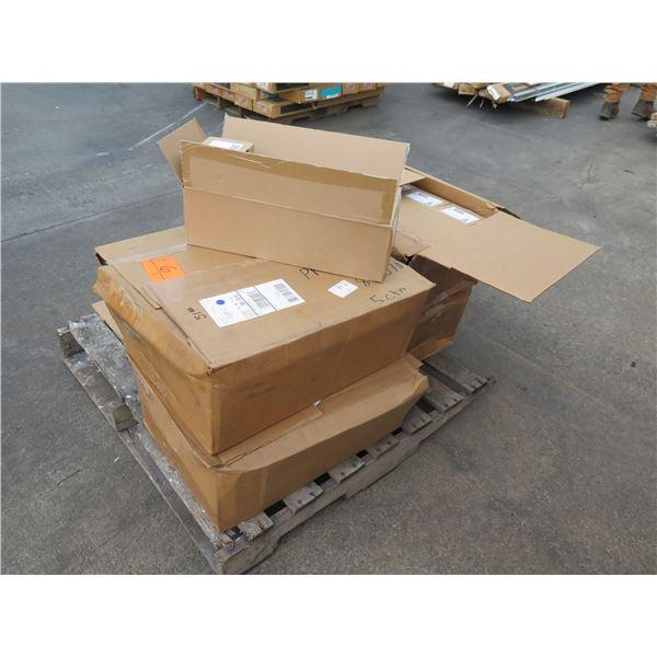 Multiple Boxes Hubbell Cord Connectors White & Aluminum