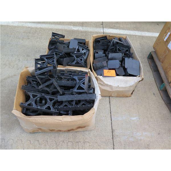 Qty 3 Boxes Black Plastic Stands & Brackets S288LHN