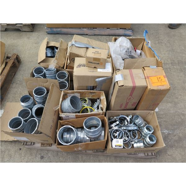 Pallet Power Pact Circuit Breakers, Square D Boxes, Fittings, Hubs, etc