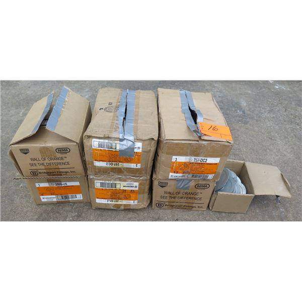 Qty 7 Boxes Bridgeport Zinc Rigid/EMT Connector 257-DC2