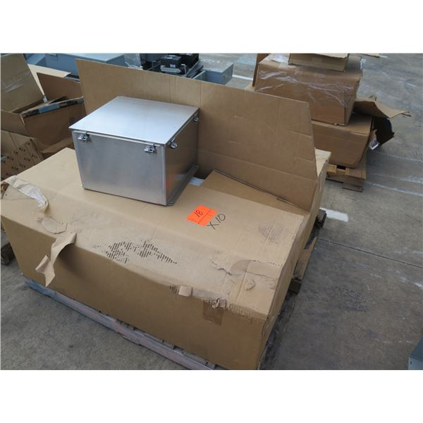 """Multiple Stainless Steel Boxes 11""""x9"""", 14x14x10 NX4 JIC Encl"""