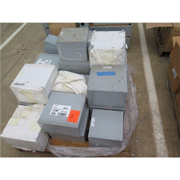Multiple Hoffman Nema, Cooper B-Line Metal Enclosure Boxes