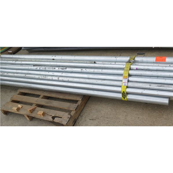 Pallet Misc Lengths Metal Pipe w/ Some Fittings 7'-10'L