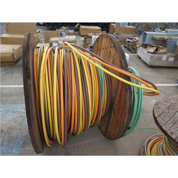 Spool Approx. 376' American Wire Multi-Colored Low Friction 400MCM Cable
