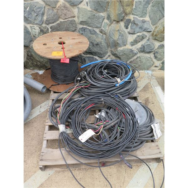 Multiple Southwire Royal Coils & Spool Black  PPEC 3C 8 AWG Cable
