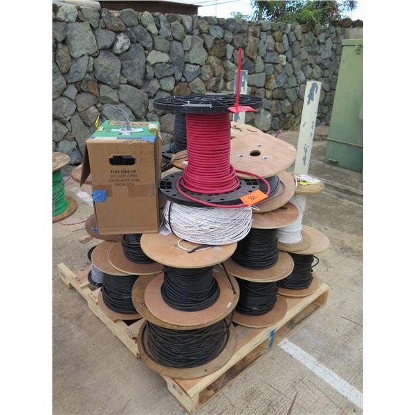 Multiple Spools IE Sol Plenum FPLP Fire Alarm Cable, Black Conduit, etc