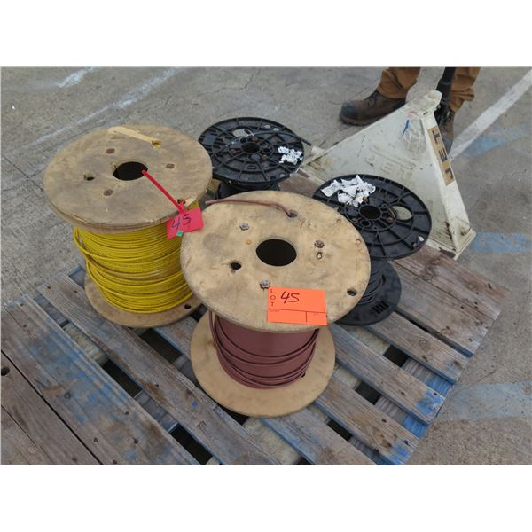 Qty 4 Spools United Copper Industries 6AWG Cable Misc Colors