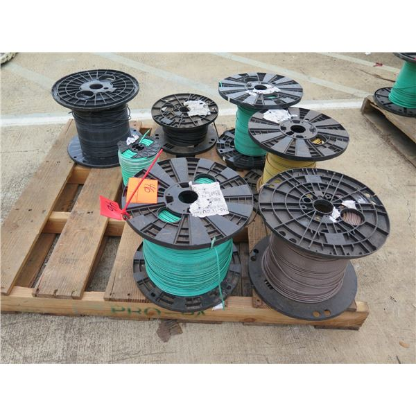 Qty 7 Spools 10-19/10-7 THHN-THWN MYW-AWM Cable Misc Colors