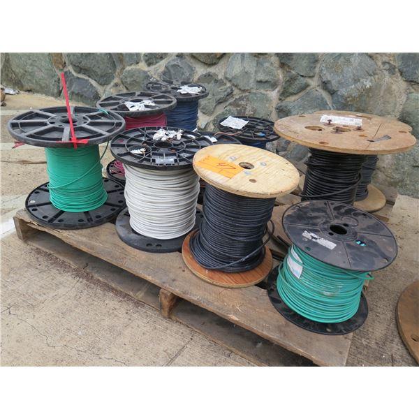 Qty 10 Spools Southwire THHN PVC 600V / 8 Str Cu SIM Cable Misc Colors