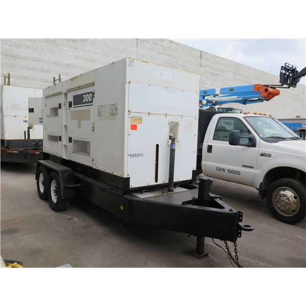 MQ Power 300 KVA WhisperWatt Diesel Powered AC Generator DCA-300SSK2 on Trailer (Starts & Runs, Prod