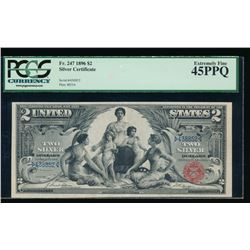 1896 $2 Educational Silver Certificate PCGS 45PPQ