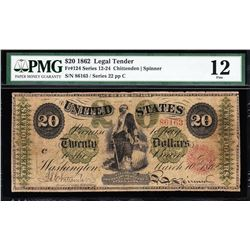 1862 $20 Legal Tender Note PMG 12