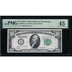 1928 $10 Boston FRN PMG 45