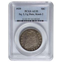 1820 Capped Bust Half Dollar PCGS AU55
