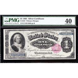 1891 $1 Martha Washington Silver Certificate PMG 40