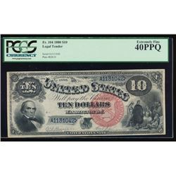 1880 $10 Jackass Legal Tender Note PCGS 40PPQ