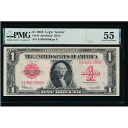 1923 $1 Legal Tender Note PMG 55