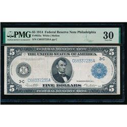 1914 $5 Philadelphia FRN PMG 30