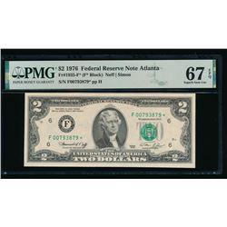 1976 $2 STAR Atlanta FRN PMG 67EPQ