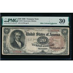 1890 $20 Treasury Note PMG 30