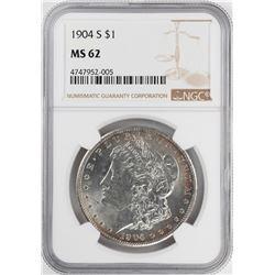 1904-S $1 Morgan Silver Dollar Coin NGC MS62