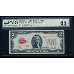 1928A $2 Legal Tender Note PMG 65EPQ