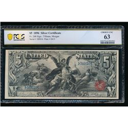 1896 $5 Educational Silver Certificate PCGS 63