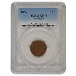 1886 Indian Cent PCGS XF45