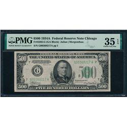 1934A $500 Chicago FRN PMG 35EPQ