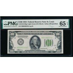 1934 $100 St Louis FRN PMG 65EPQ