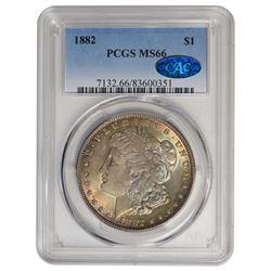 1882 $1 Morgan Silver Dollar PCGS MS66 CAC