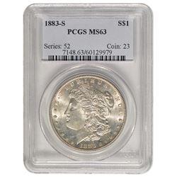 1883-S $1 Morgan Silver Dollar PCGS MS63
