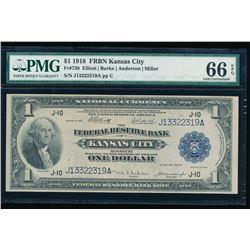 1918 $1 Kansas City FRBN PMG 66EPQ