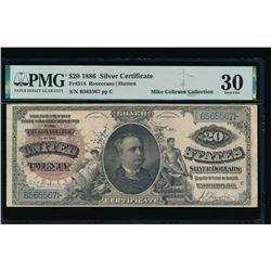 1886 $20 Silver Certificate PMG 30