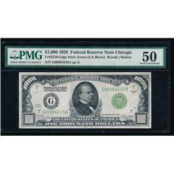 1928 $1000 Chicago FRN PMG 50
