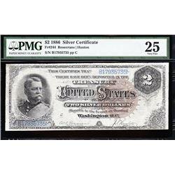 1886 $2 Silver Certificate PMG 25