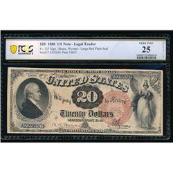 1880 $20 Legal Tender Note PGS 25