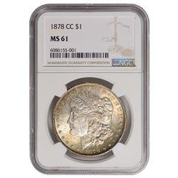 1878-CC $1 Morgan Silver Dollar NGC MS61