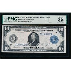 1914 $10 Boston FRN PMG 35