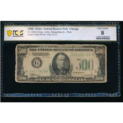 1934A $500 Chicago FRN PCGS 8