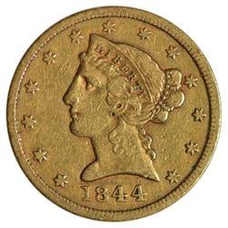 1844 $5 Liberty Head Half Eagle Gold Coin