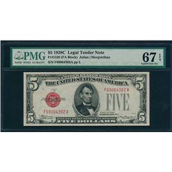 1928C $5 Legal Tender Note PMG 67EPQ