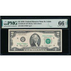 1976 $2 St Louis STAR FRN PMG 66EPQ