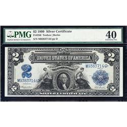 1899 $2 Mini Porthole Silver Certificate PMG 40